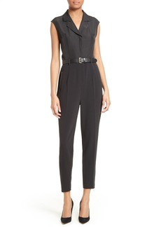 Ted Baker London Natoly Belted Mixed Media Jumpsuit
