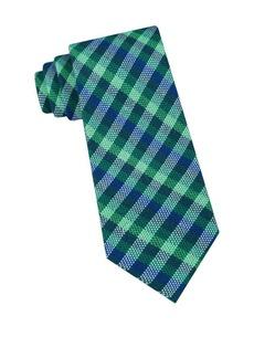 Ted Baker London Natte Gingham Cotton & Silk Tie