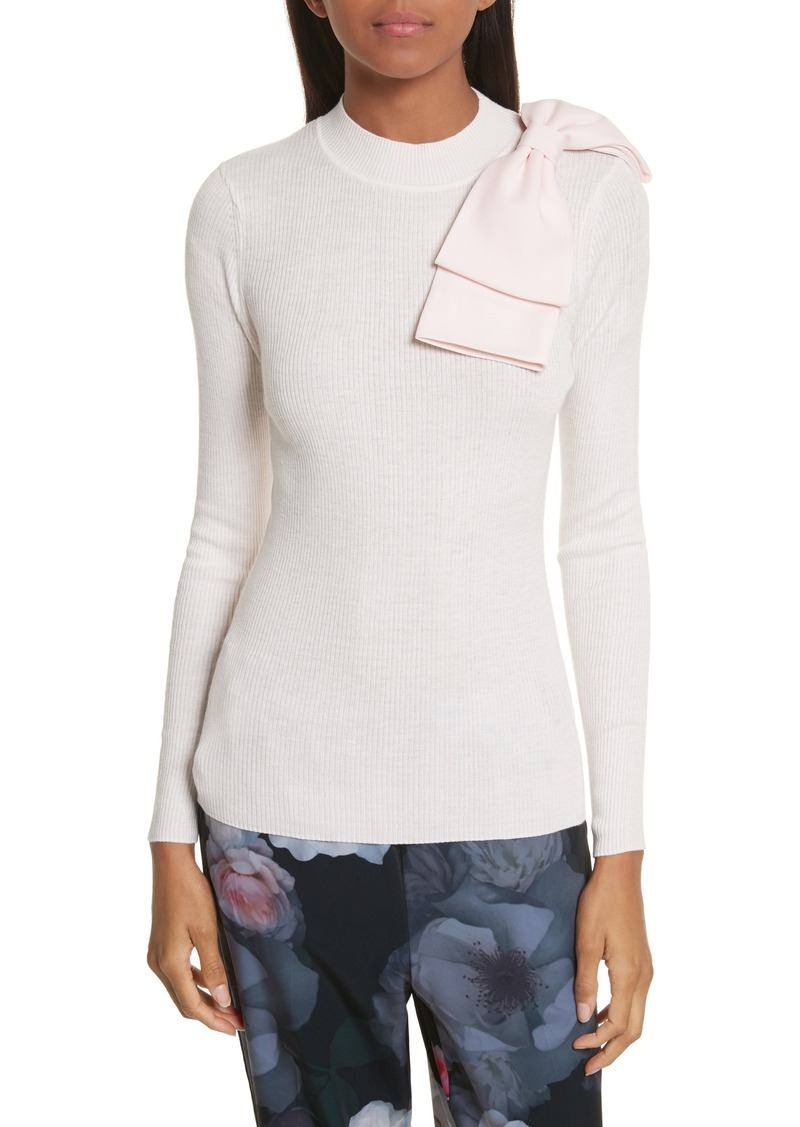 a326589c3 Ted Baker Ted Baker London Nehru Bow Skinny Rib Knit Sweater