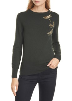 Ted Baker London Nelina Sugarplum Dragonfly Wool & Cashmere Blend Sweater