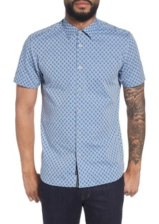 Ted Baker London Newfone Trim Fit Chambray Sport Shirt