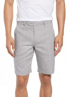 Ted Baker London Newshow Flat Front Stretch Cotton Blend Shorts