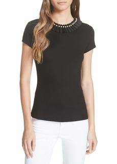 Ted Baker London Nickita Imitation Pearl Neck Top
