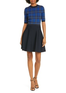 Ted Baker London Nilar Check Skater Dress