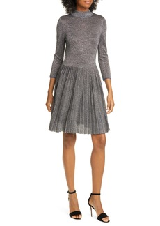 Ted Baker London Noaleen Metallic Pleated Dress
