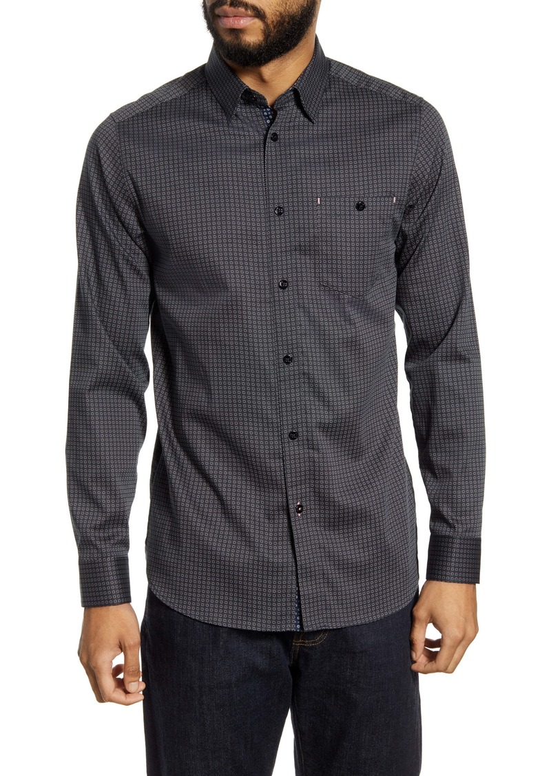 Ted Baker London Nochoc Slim Fit Button-Up Shirt