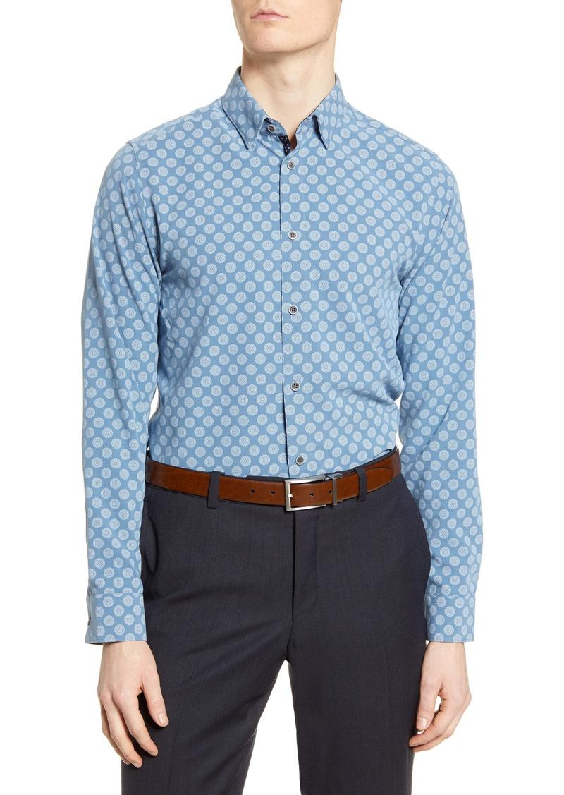 Ted Baker London Noder Slim Fit Geo Print Button-Up Shirt