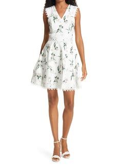 Ted Baker London Nolla Floral & Lace Skater Dress