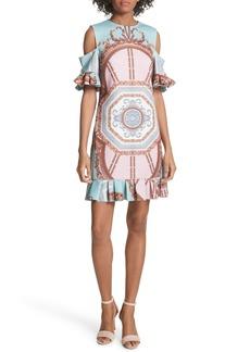 Ted Baker London Norahe Versailles Cold Shoulder Dress