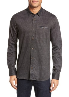Ted Baker London Norbor Modern Slim Fit Microdot Print Sport Shirt