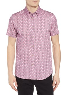 Ted Baker London Norflam Flamingo Print Sport Shirt