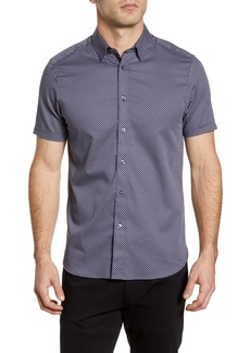 Ted Baker London Norjas Slim Fit Short Sleeve Button-Up Shirt