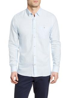 Ted Baker London Notip Button-Up Linen Blend Shirt