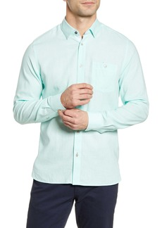 Ted Baker London Notip Button-Up Linen Blend Shirt