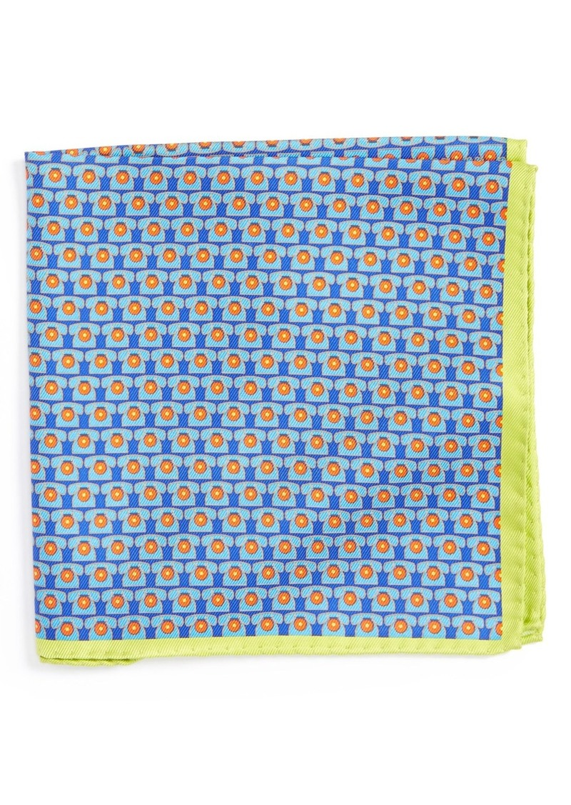 Ted Baker London Novelty Print Silk Pocket Square