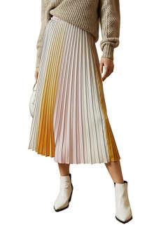 Ted Baker London Noviia Ombré Pleated Midi Skirt