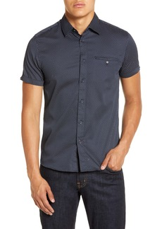 Ted Baker London Oatshor Slim Fit Short Sleeve Button-Up Shirt