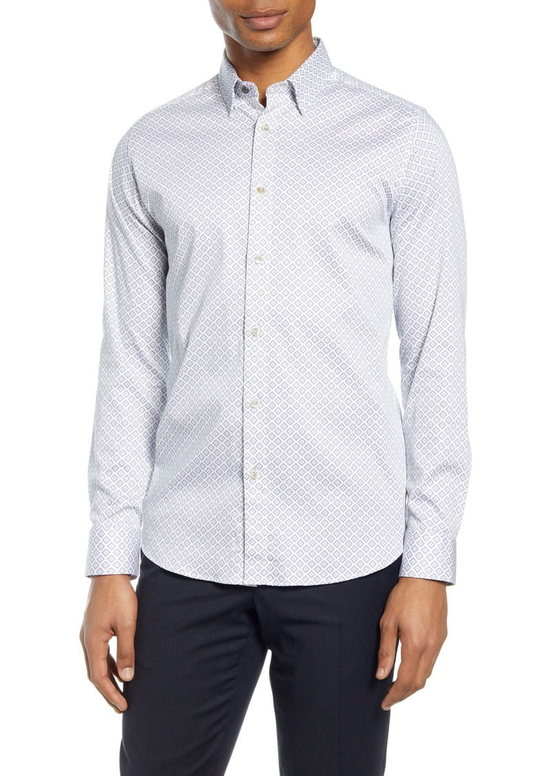 Ted Baker London Offme Slim Fit Geo Print Button-Up Shirt