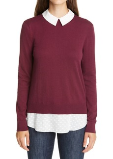 Ted Baker London Ohlin Mixed Media Layered Sweater