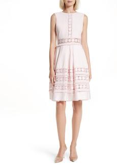 Ted Baker London Olym Contrast Trim Dress