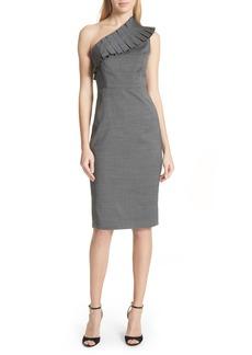 Ted Baker London One-Shoulder Sheath Dress