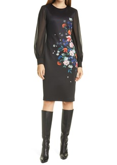 Ted Baker London Ophena Flower Bodycon Dress