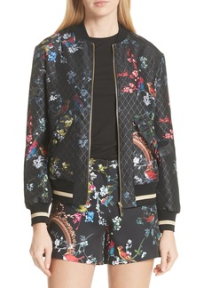 Ted Baker London Opulent Fauna Bomber Jacket