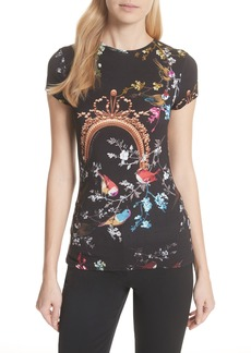 Ted Baker London Opulent Fauna Fitted Tee
