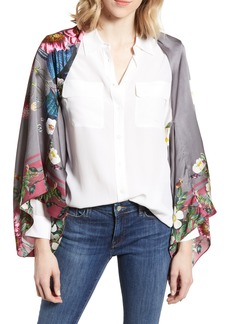 Ted Baker London Oracle Floral Silk Cape Scarf