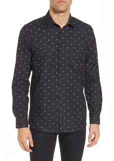 Ted Baker London Orense Slim Fit Monkey Embroidered Sport Shirt