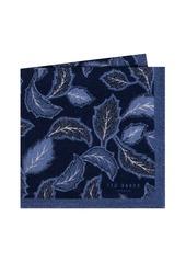 Ted Baker London Paisley Leaf Wool Pocket Square