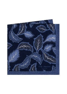 Ted Baker London Paisley Leaf Wool Pocket Square
