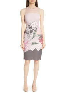 Ted Baker London Palace Gardens Body-Con Dress