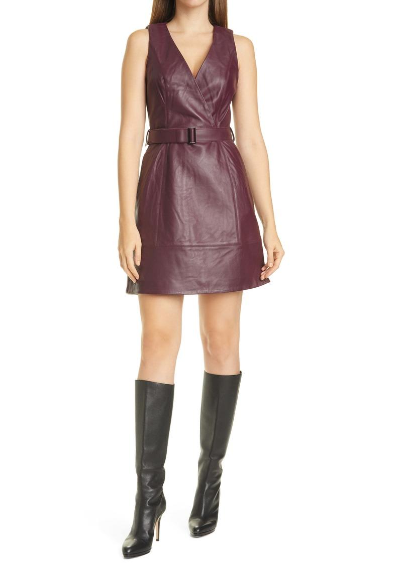 Ted Baker London Palmara Sleeveless Leather Dress