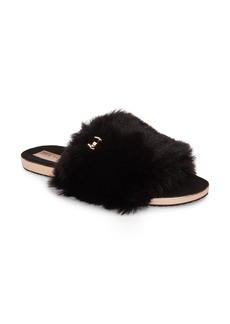 Ted Baker London Pancey Faux Fur Slipper (Women)