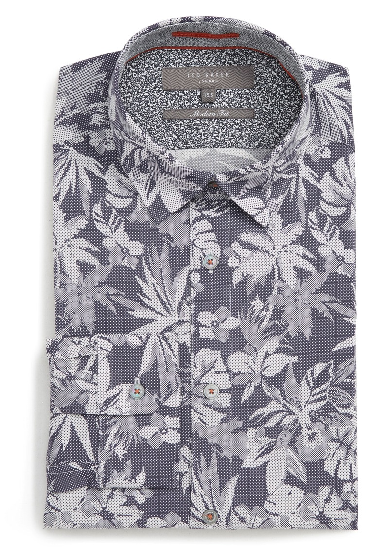 Ted Baker London Pandar Modern Fit Stretch Floral Dress Shirt