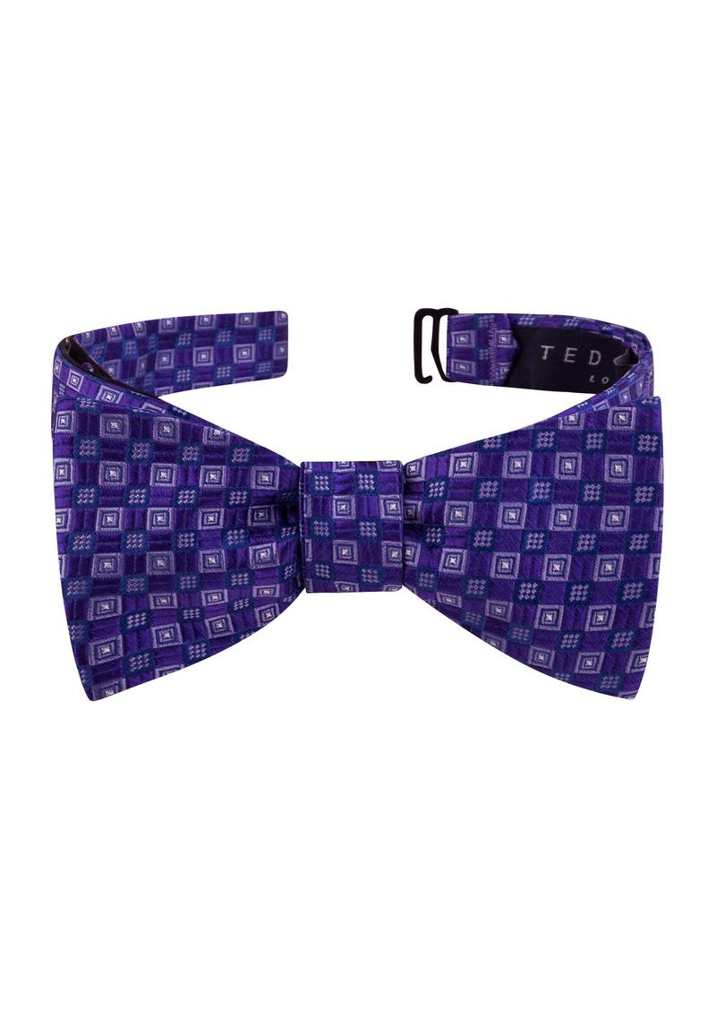 Ted Baker London Parquet Geometric Silk Bow Tie