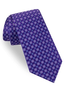 Ted Baker London Parquet Grid Silk Tie