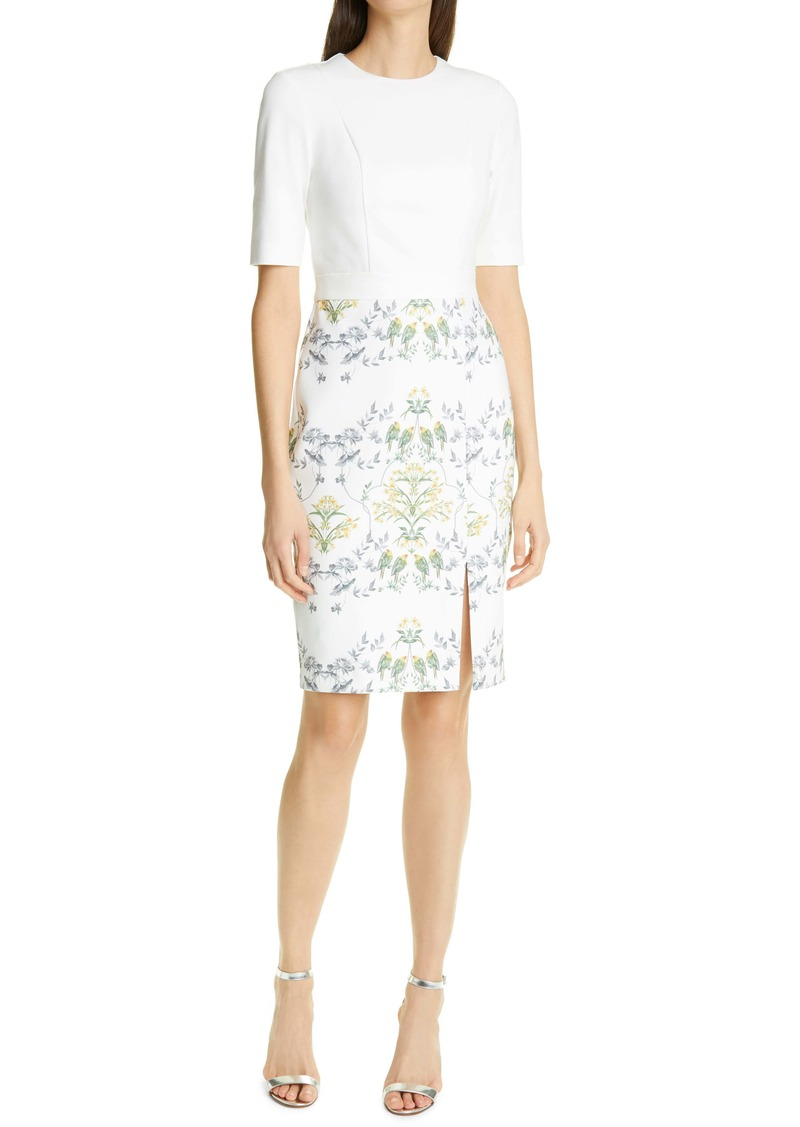Ted Baker London Pattern Mix Body-Con Dress