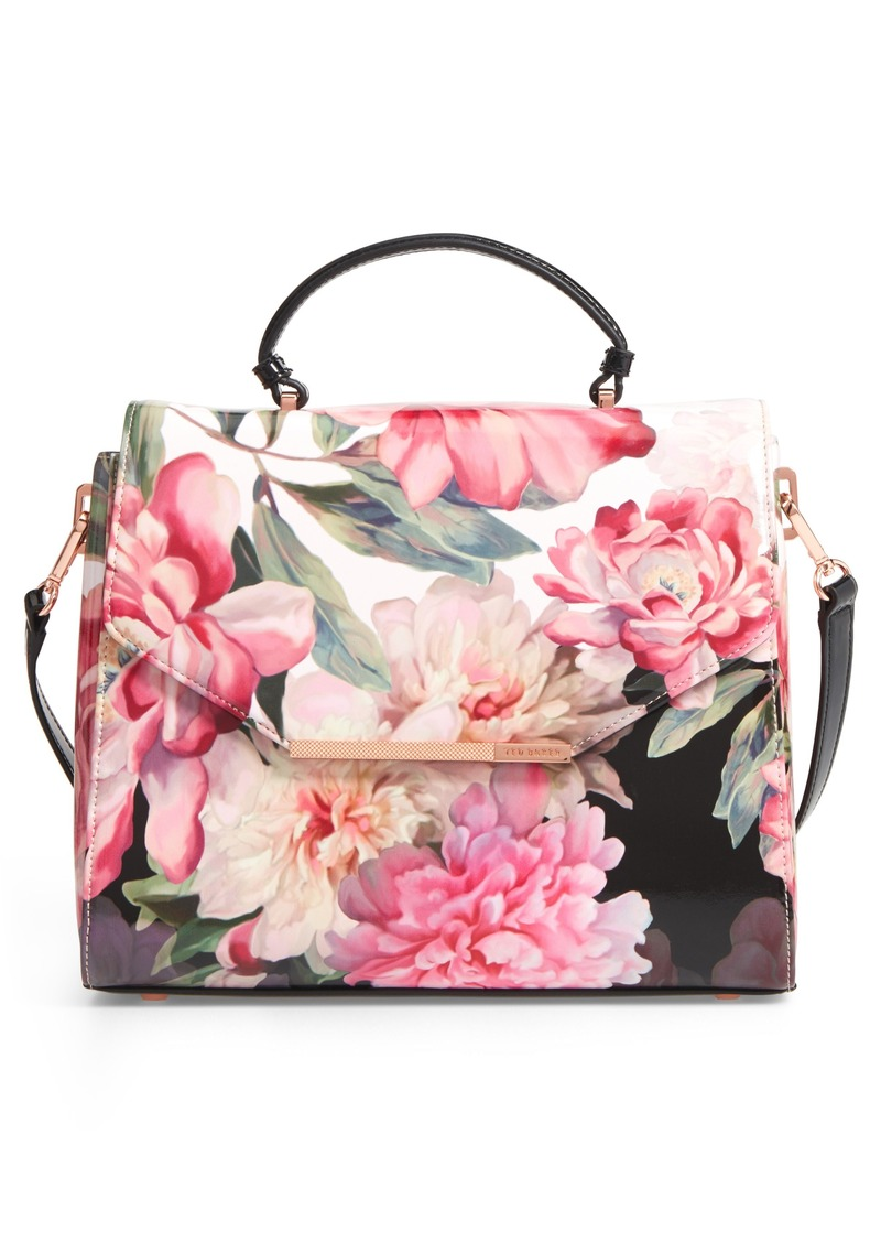 a2d76245a Ted Baker Ted Baker London Payeton Posie Large Leather Satchel ...