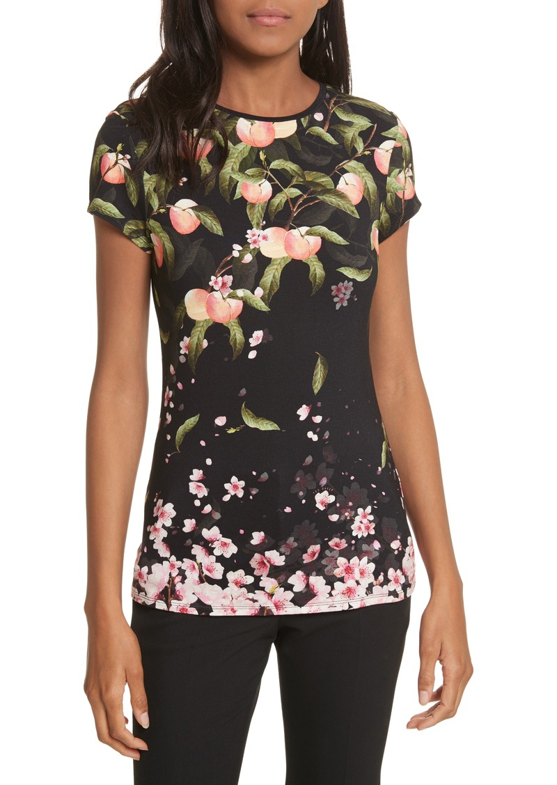 42e99b13b Ted Baker Ted Baker London Peach Blossom Fitted Tee