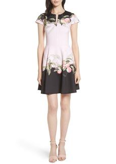 Ted Baker London Peach Blossom Jersey Skater Dress