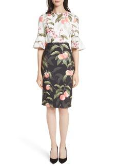 Ted Baker London Peach Blossom Sheath Dress