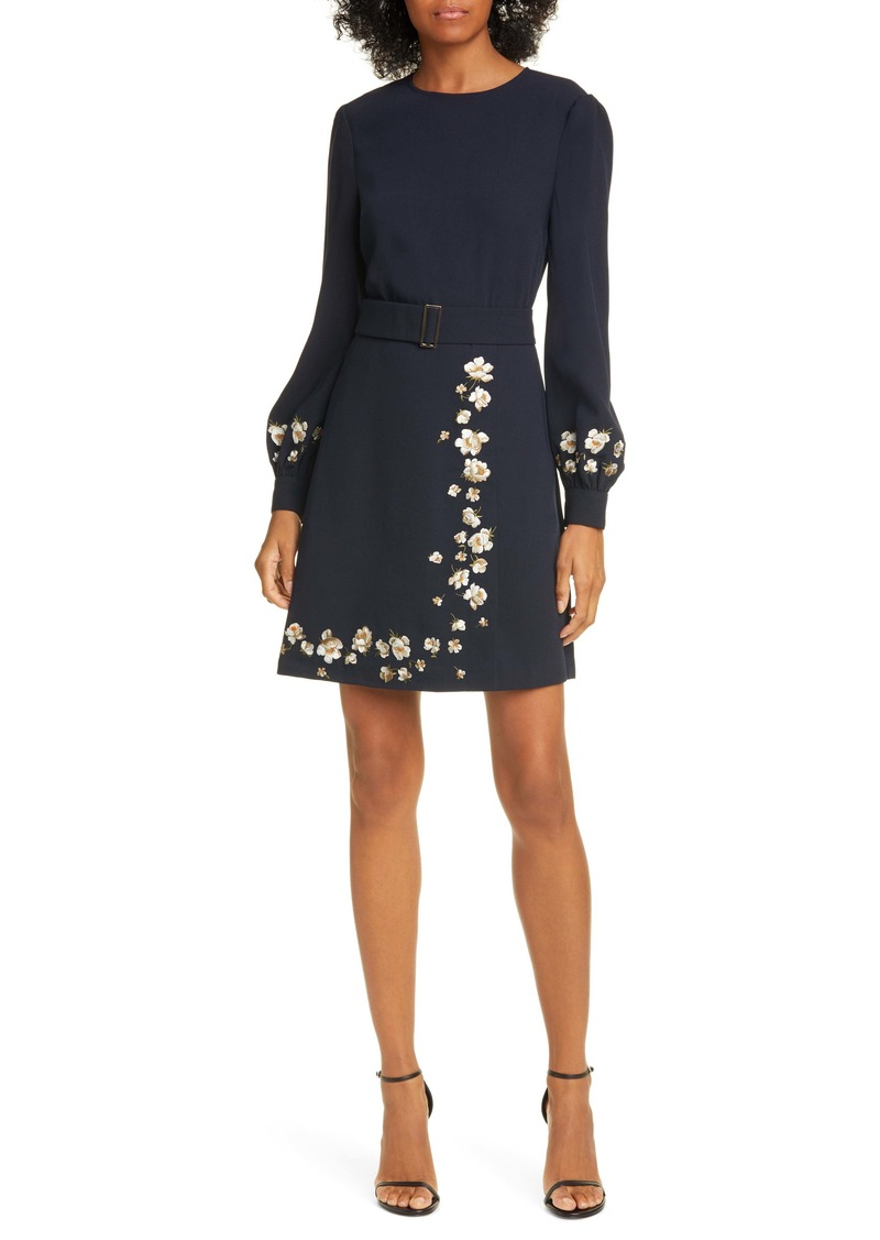 Ted Baker London Pearl Floral Long Sleeve Dress