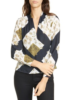 Ted Baker London Pearl Print Wrap Blouse