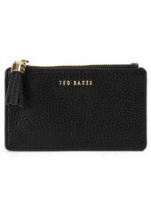 Ted Baker London Peggey Tassel Zip Leather Card Holder