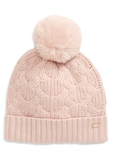Ted Baker London Peppier Faux Fur Pompom Hat