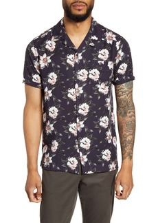 Ted Baker London Philip Slim Fit Floral Short Sleeve Shirt
