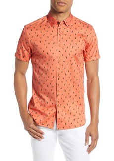Ted Baker London Phmingo Slim Fit Bird Print Sport Shirt