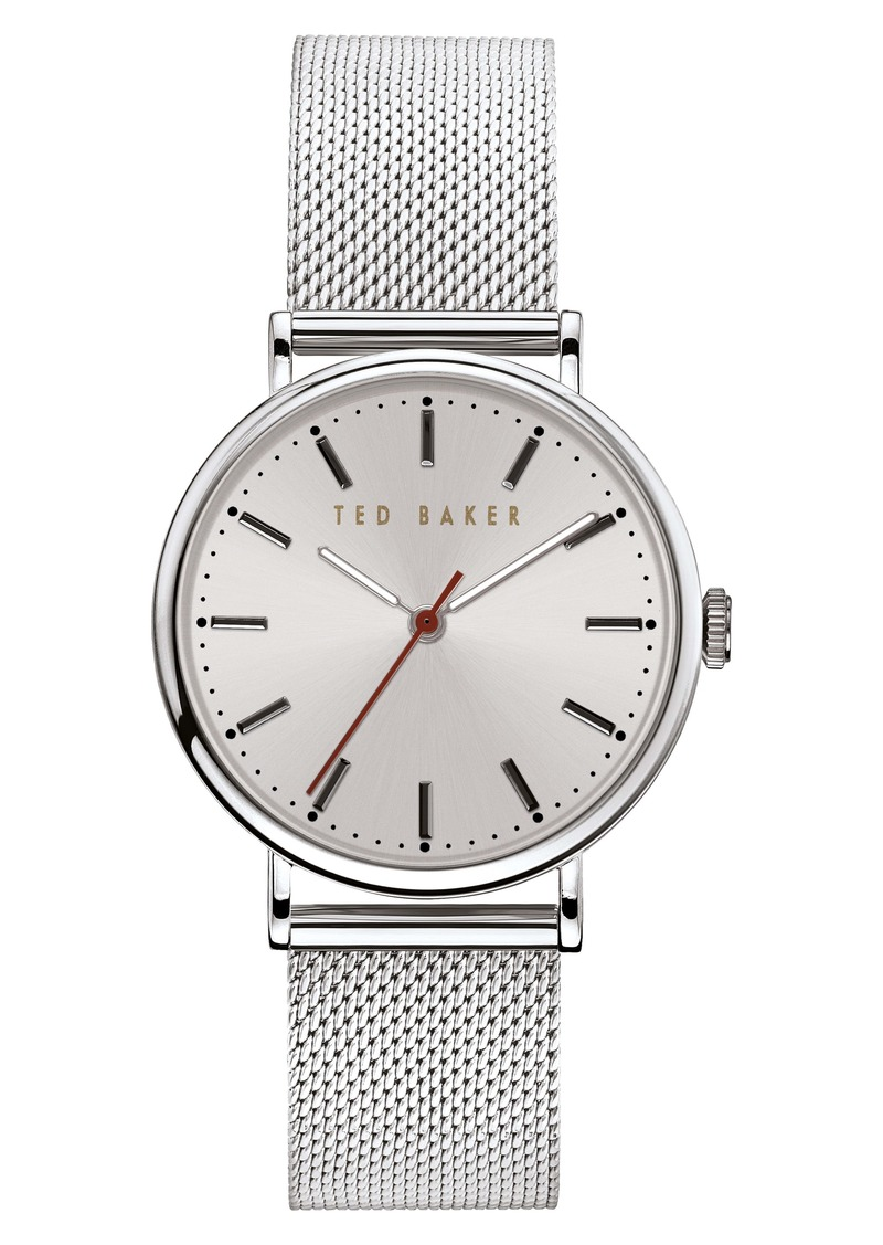 Ted Baker London Phylipa Mesh Strap Watch, 37mm